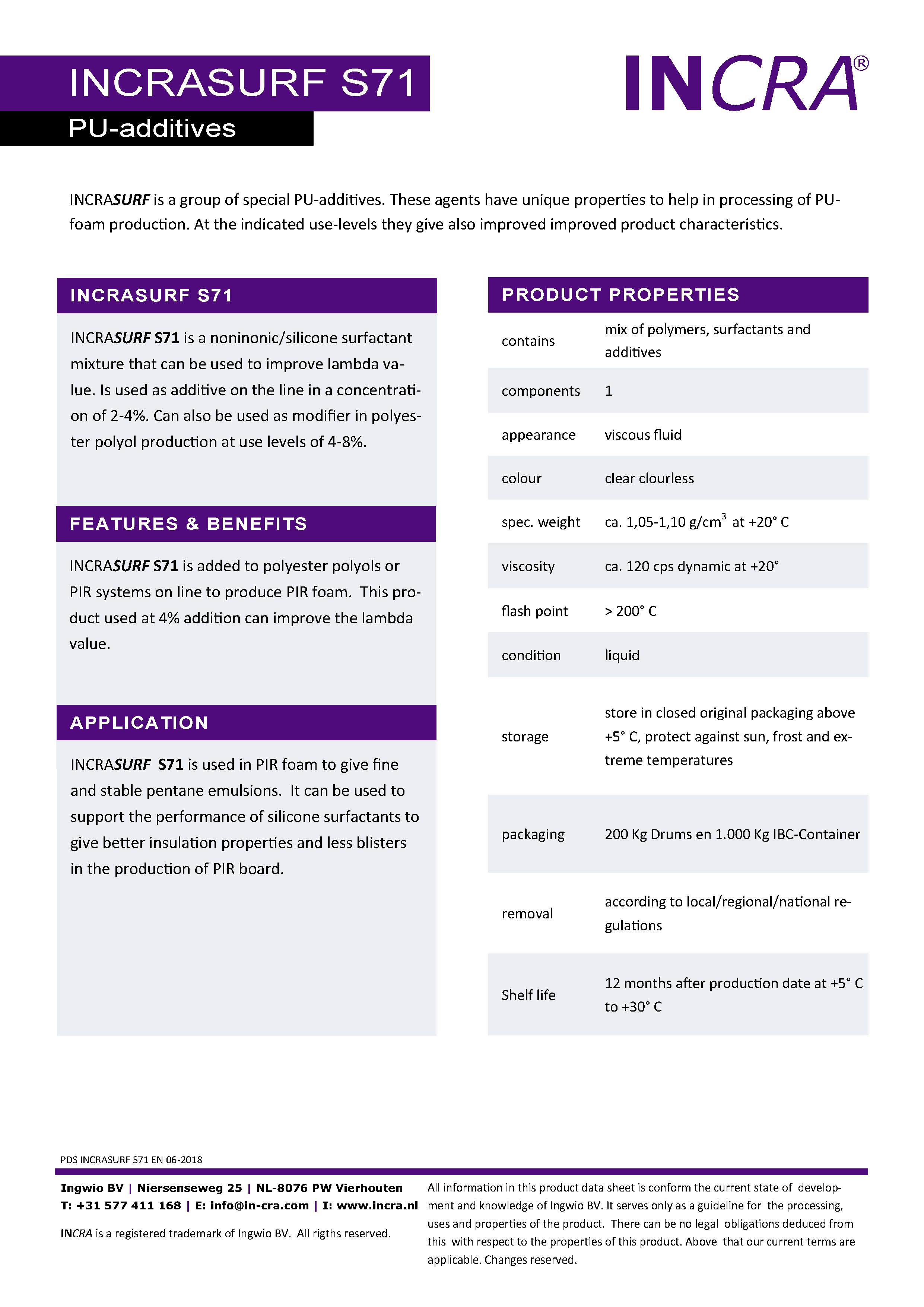 PU & Anti Foam Additives – INCRA